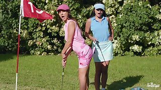 Sexual fantasy down to rub-down the fore golf course for one top lesbians