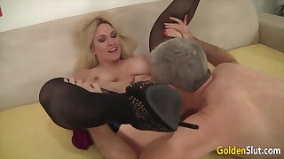 Golden Slut - Older Beauties Licked with an increment of Fingered Compilation