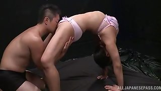 Soft viva voce porn for a flexible amateur Japanese with nice tits