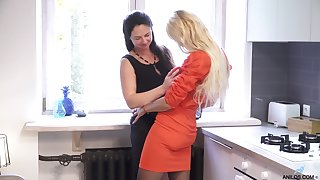Sexy grown-up babes Seraphina and Zara love having lesbian dealings