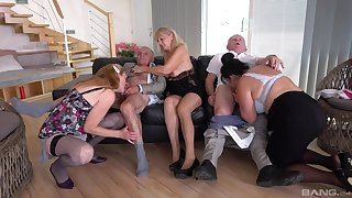 Impeccable mature orgy take homemade amateurs