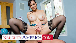 Naughty America - Lexi Luna gives student a abetting hand