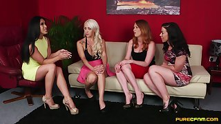 Insolent nude babes provide the most intense amateur lesbian scenes