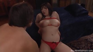 Big exasperation Japanese with huge tits, really naughty amateur porn