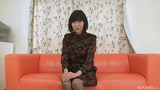 Asian mature grabs the dick for some disobedient fun