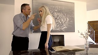 Petite babe pleases stepdad be advisable for uncultured a naughty girl