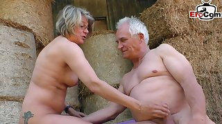 German mature grandma fucks outdoor connected with amateur porn