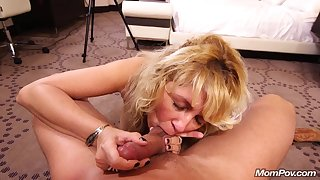 Housewife Blond Hair Lady Had Intercourse In All Holes And Her Chunky Tits - ANALDIN