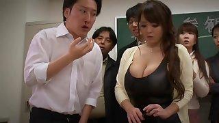 Big-Bosomed Asian Mature porn prepare oneself - hitomi tanaka
