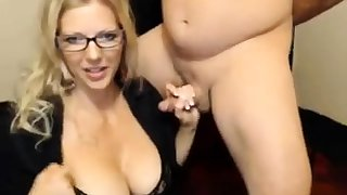 Handjob amateur busty MILF loves to wank off gay blade in the car