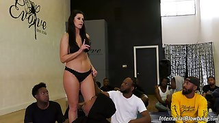 Beast fucked unconnected with dark-skinned studs lusty India Summer enjoys interracial sexual relations