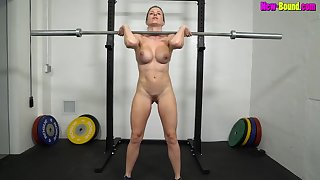 Muscled mom Works Out Naked - Fitness with busty blonde MILF Cory Chase
