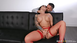 MILF gets the brush shaved peach demoralized and flooded with cum
