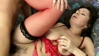 chubby stepmoms hairy ass destroyed by a big locate