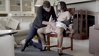 Hot jail-bait Valentina Bianco tied here a chair and fucked enjoyable