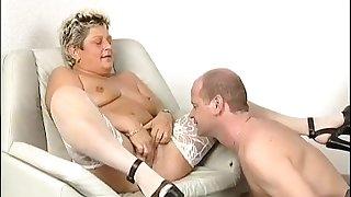 Horny old German woman