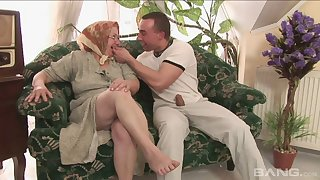 Old vs young porn integument with chubby mature battle-axe Dominika. HD