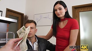 Gay blade picks up naughty gal together with lets her BF watch him screwing her