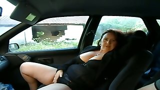 This well-endowed adult ungentlemanly wants me to play with her pussy in my car